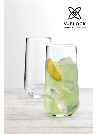 Paşabahçe V-Block Antimikrobiyal Allegra Su Meşrubat Bardağı 12 Li 2 Boy Renkli
